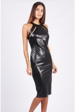 TFNC Myleen PVC Black Dress