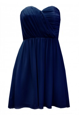 TFNC Anabella Navy Chiffon Dress
