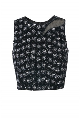 Lace & Beads Zoe Black Top