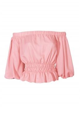 TFNC Naty Pink Crop Top