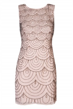 Lace & Beads Katlyn Nude Embellished Dress