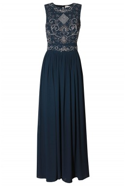 Lace & Beads Paula Navy Maxi Dress