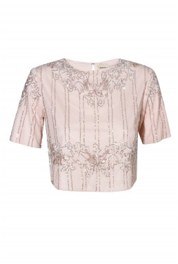 Lace & Beads Trish Pink Top