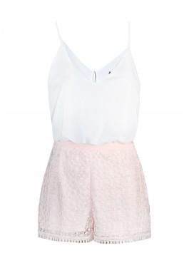 TFNC Carla Bis Pink Playsuit