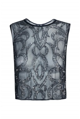 Lace & Beads Brooklyn Navy Top