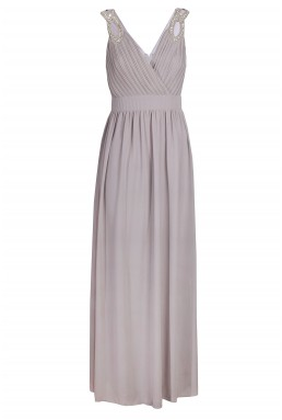 TFNC Debby Grey Maxi Dress