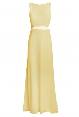 TFNC Halannah Yellow Maxi Dress