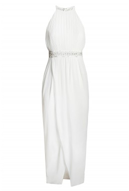 TFNC Serene White Embellished Dress