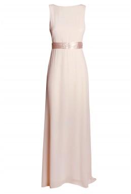 TFNC Halannah Embellished Nude Maxi Dress