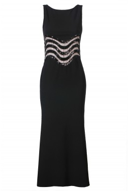 TFNC Nitsa Black Maxi Dress