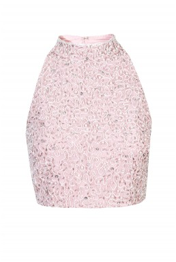 Lace & Beads Pearl Pink Top
