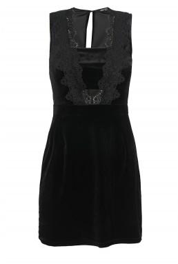 TFNC Louisa Black Velvet Dress