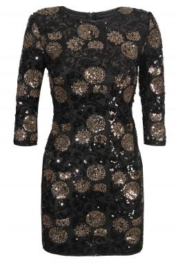 TFNC Paris Dotty Black Sequin Dress