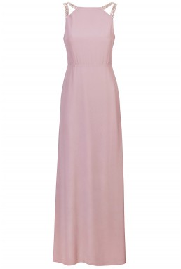 TFNC Riva Pink Maxi Embellished Dress