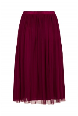 Lace & Beads Val Burgundy Skirt