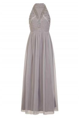 Lace & Beads Acinthe Grey Dress