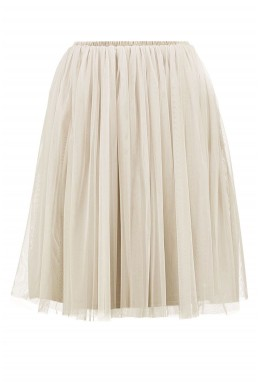 Lace & Beads Val Cream Skirt