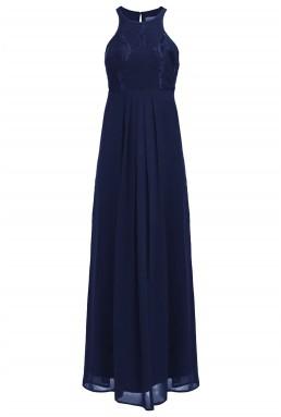 Lace & Beads Elanor Navy Maxi Dress