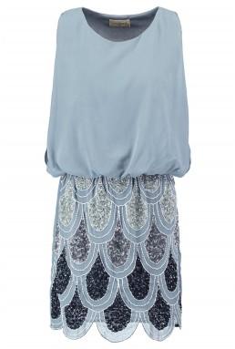 Lace & Beads Sharon Angela Grey Mist Embellished Dress
