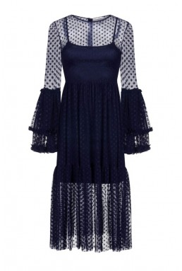 Lace & Beads Raven Black Sheer Dress