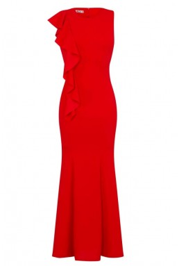 WalG Ruffle Red Maxi Dress