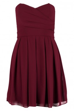 TFNC Elida Berry Chiffon Dress