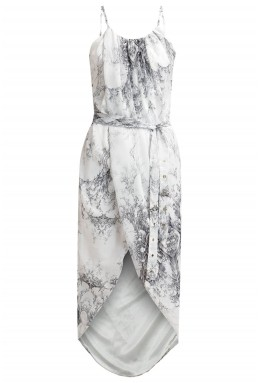TFNC Zeus Printed White Dress