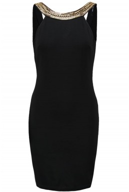TFNC Riccocone Black & Gold Bodycon Dress