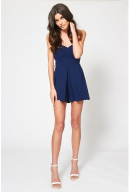 TFNC Staley Navy Playsuit