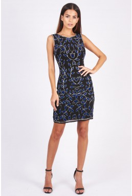 Lace & Beads Rio Black Embellished Dress