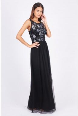 Lace & Beads Hannah Navy Maxi Dress