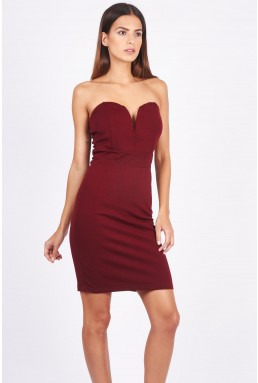 TFNC Halo Wine Mini Dress