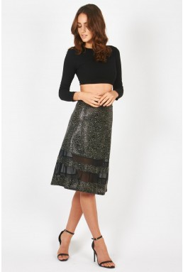 TFNC Pokka Black Skirt