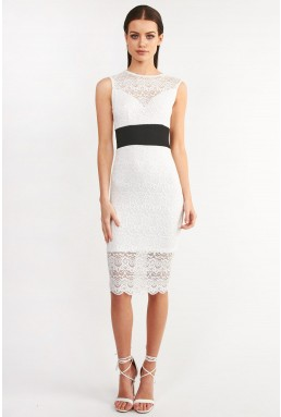 TFNC Gaella White Bodycon Dress
