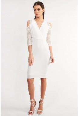 TFNC Lizie White Bodycon Dress