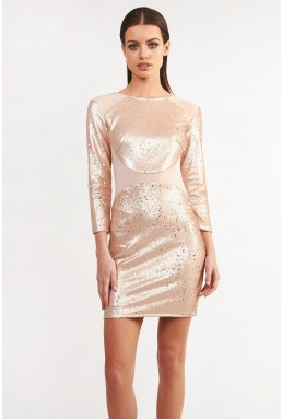 TFNC Bizzie Pink Sequin Dress