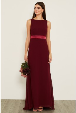 TFNC Halannah Burgundy Maxi Dress