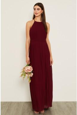 TFNC Serene Burgundy Maxi Dress