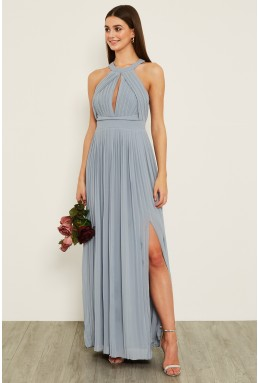 TFNC Prague Blue Grey Maxi Dress