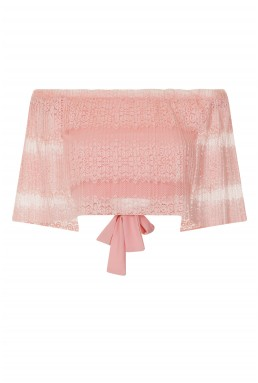 TFNC Gabbie Pink Crop Top