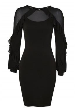 TFNC Flame Black Dress
