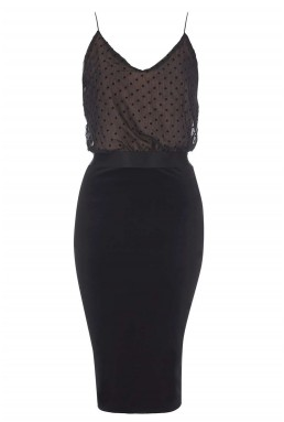 TFNC Alia Black Cami Dress