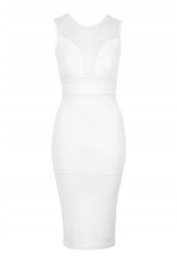 TFNC Alyna White Bodycon Dress
