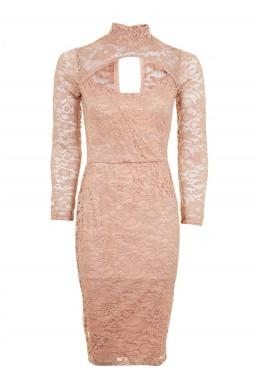 TFNC Tessa Taupe Dress