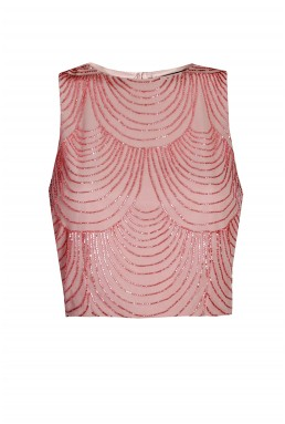 Lace & Beads Opal Penny Pink Top