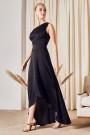 TFNC Delali One Shoulder Black Maxi Dress