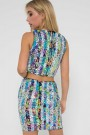 TFNC Scotia Multi Sequin Mini Skirt