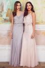 Lace & Beads Keeva Light Grey Maxi Dress