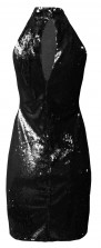TFNC Paris High Neck Sequin Dress