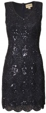 Lace & Beads Abria Navy Embellished Dress